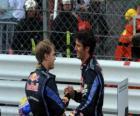 Mark Webber y Sebastian Vettel - Red Bull - Monte-Carlo 2010 (1º y 2º Clasificados)