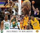 Final NBA 2009-10, Aleros, Paul Pierce (Celtics) vs Ron Artest (Lakers)