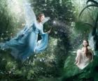 Dos hadas en el bosque