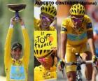 Alberto Contador campeón, del Tour de Francia 2009