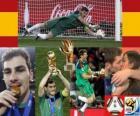 Iker Casillas mejor portero (Guante de Oro) de la Copa del Mundo de fútbol de Sudáfrica 2010