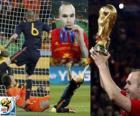 Andrés Iniesta, mejor jugador de la final de la Copa del Mundo de fútbol de Sudáfrica 2010