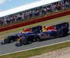 Mark Webber y Sebastian Vettel - Red Bull - Silverstone 2010