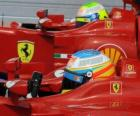 Fernando Alonso, Felipe Massa - Ferrari - Gran Premio de Hungría 2010