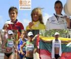 Zivile Balciunaite campeona de Maratón, Nailia Yulamanova y Anna Incerti (2ª y 3era) de los Campeonatos de Europa de atletismo Barcelona 2010