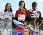 Natalia Antiuj campeona en 400 m vallas, Vania Stambolova y Perri Shakes-Drayton (2ª y 3era) de los Campeonatos de Europa de atletismo Barcelona 2010