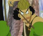Usopp, tirador de la tripulación pirata y experto en armas