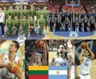 Lituania - Argentina, quartos de final, Campeonato Mundial FIBA 2010 en Turquia