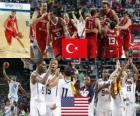 Turquia vs Estados Unidos, Final, Campeonato Mundial FIBA 2010 en Turquia