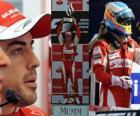 Fernando Alonso celebra su victoria en Monza, Gran Premio de Italia (2010)