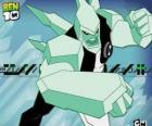 Diamondhead es un alien con el cuerpo hecho de cristal extremadamente duro