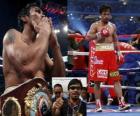 Manny Pacquiao conocido también como Pac-Man, es un boxeador profesional filipino.