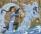 Katara es una poderosa maestra - agua que acompaña a Aang junto con su hermano Sokka