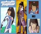 Mei es la jugadora número 7 del equipo de los Snow Kids