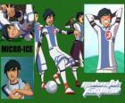 Micro-Ice es el gracioso del equipo de los Snow Kids , tiene el número 3
