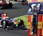 Sebastian Vettel celebra su victoria en el Gran Premio de Japon (2010)