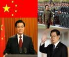 Hu Jintao secretario general del Partido Comunista Chino y presidente de la República Popular China