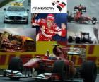 Fernando Alonso celebra su victoria en el Gran Premio de Corea (2010)
