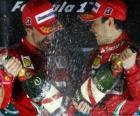 Fernando Alonso, Felipe Massa, Gran Premio de Corea (2010) (1er y 2º Clasificados)