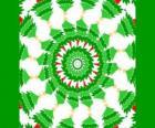 Mandala con decoración navideña