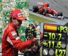 Fernando Alonso - Ferrari- GP de Brasil 2010 (3er Clasificado)