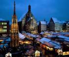 Mercado Christkindl, Nuremberg, Baviera, Alemanya