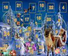 Calendario de Adviento, un cuenta-atrás desde el uno de diciembre hasta Nochebuena, el 24 de diciembre. Tradición de origen alemana