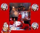 Papá Noel leyendo las cartas de los niños que él ha recibido para estas Navidades