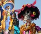 La calavera Catrina, uno de los personajes más populares de la celebración del Día de los Muertos en México