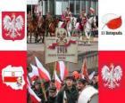 Fiesta nacional de Polonia, 11 de noviembre. Conmemoración de la Independencia de Polonia en 1918