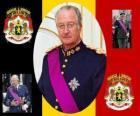 La Fiesta del Rey, una ceremonia en honor al Rey de Bélgica, el 15 de noviembre. Escudo de armas de Bélgica