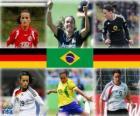Nominadas para la Jugadora Mundial del Año de la FIFA 2010 (Fatmire Bajramaj, Marta Vieira da Silva, Birgit Prinz)
