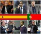 Nominados para la Copa Mundial de Entrenador del Año del Fútbol Masculino 2010 (Vicente del Bosque, Pep Guardiola, José Mourinho)