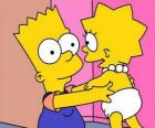 Bart, cuidando de su hermana Maggie