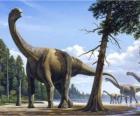 Camarasaurus en el paisaje