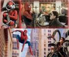 Spiderman luchando contra el villano Doctor Octopus o Doctor Pulpo, uno de sus mayores enemigos