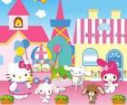 Hello Kitty y sus amiguitos disfrutando de un día en la Pastelería