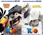 Carteles de la película Rio, con algunos personajes (2)