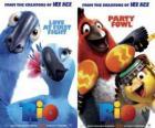Carteles de la película Rio, con algunos personajes (1)