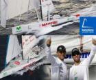 El Mapfre segundo de la Barcelona World Race 2010-11
