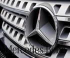 Logo de Mercedes, Mercedes-Benz, marca alemana de vehículos. Estrella de tres puntas de Mercedes