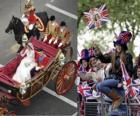 Boda Real británica entre el Príncipe Guillermo y Kate Middleton, pasean en carroza acalamados por los ciudadanos