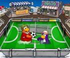 El partido de fútbol del Club Penguin