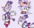 Blaze the Cat, una princesa y una de las amigas de Sonic