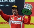 Fernando Alonso - Ferrari - Istanbul, Gran Premio de Turquia (2011) (3er Clasificado)