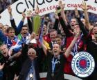 Rangers FC, Glasgow Rangers, campeón de la Liga Escocesa de Fútbol 2010-2011