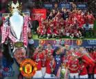 Manchester United, campeón de la liga inglesa de fútbol Premier League 2010-2011