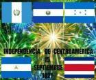 Independencia de Centroamérica, 15 de septiembre de 1821. Conmemoración de la Independencia de España de los actuales países de Guatemala, Honduras, El Salvador, Nicaragua y Costa Rica
