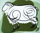 La cabra, el signo de la Cabra, el año de la Cabra en la astrología china. El octavo signo del calendario chino
