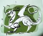 El dragón, el signo del Dragón, el Año del Dragón. Quinto animal del zodíaco chino